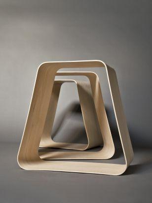 Jitter Elisabeth Florstedt Formholz swinging stool design flexibler Hocker